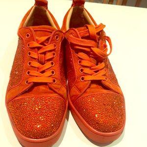 Christian Louboutin Louis junior Strass Sneakers!